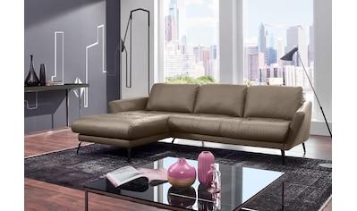 W.SCHILLIG Ecksofa »softy«, mit dekorativer Heftung im Sitz, Füße schwarz pulverbeschichtet kaufen