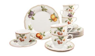 CreaTable Kaffeeservice »Flora Orchard«, (Set, 18 tlg.), Mikrowellengeeignet kaufen