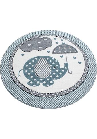 Kinderteppich, »Kids 570«, Ayyildiz, rund, Höhe 12 mm, maschinell gewebt kaufen