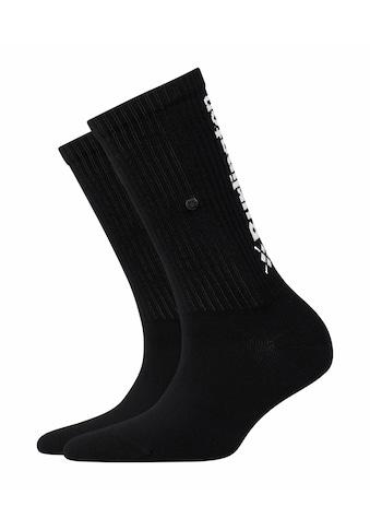 Burlington Socken »Black Logo«, (1 Paar), mit hohem Baumwollanteil kaufen