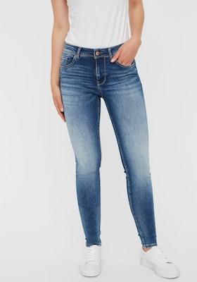 Skinny-Jeans mit hellblauer Waschung
