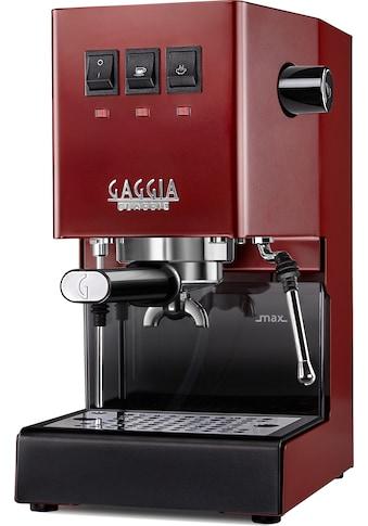 Gaggia Siebträgermaschine »New Classic Edition Rot« kaufen