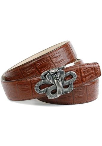 """Anthoni Crown Ledergürtel, mit Schließe """"Kobra"""" in altsilberfarben kaufen"""