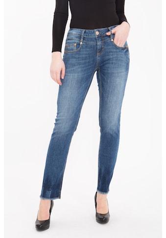 ATT Jeans Straight-Jeans »Stella«, Stretch Denim im Straight Cut mit Fransensaum kaufen