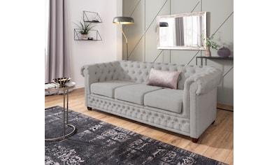 Home affaire 3-Sitzer »New Castle«, mit hochwertiger Knopfheftung in... kaufen