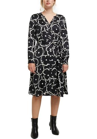 Esprit Collection Blusenkleid, in Wickeloptik und in floralem Allover-Design kaufen