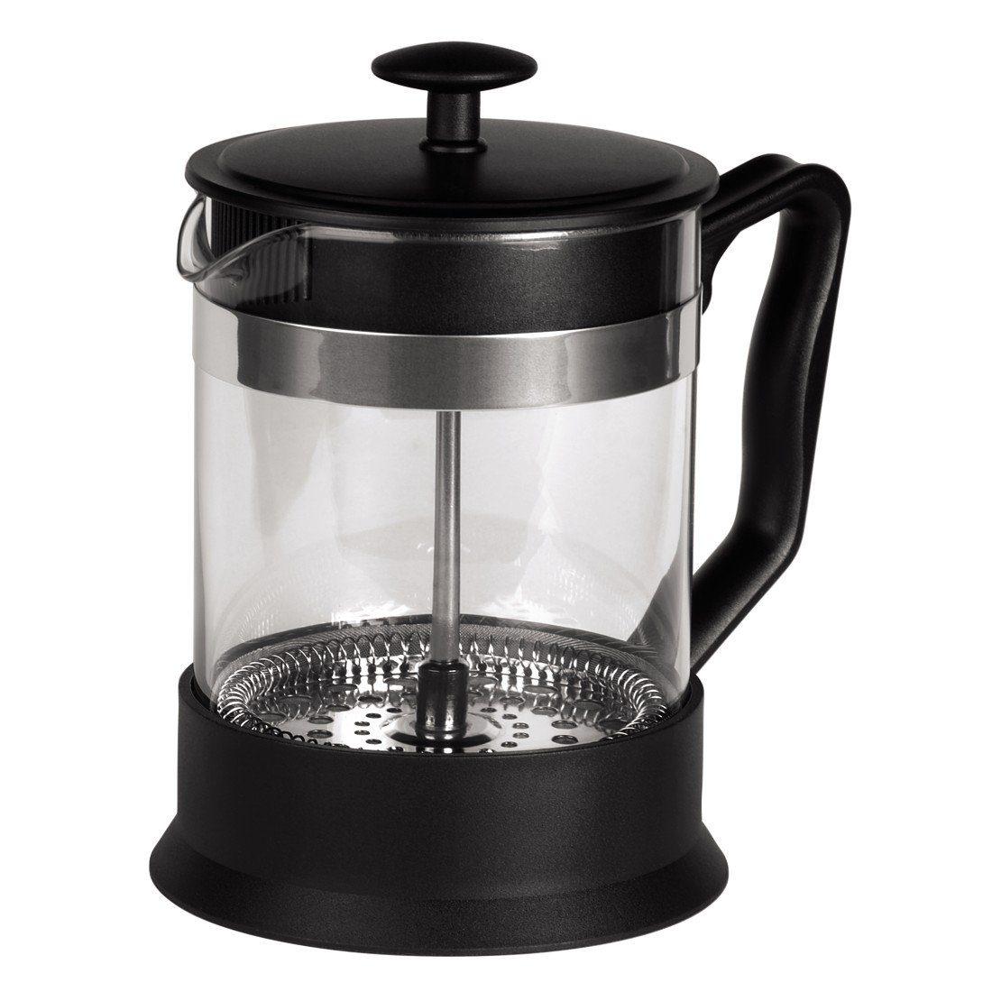 Tee-/Kaffee-Bereiter, French Press Kaffeekanne mit Sieb »Glas, 0,6...