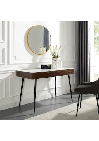 Leonique Schminktisch »Malou«, Konsolentisch, Schreibtisch mit Keramiktischplatte in Marmoroptik kaufen