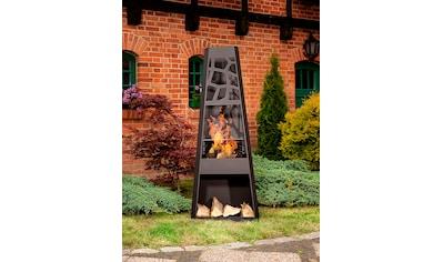 dobar Feuerstelle »XXL«, Gartenkamin, BxLxH: 57,5x38x148 cm, inkl. Grillrost kaufen