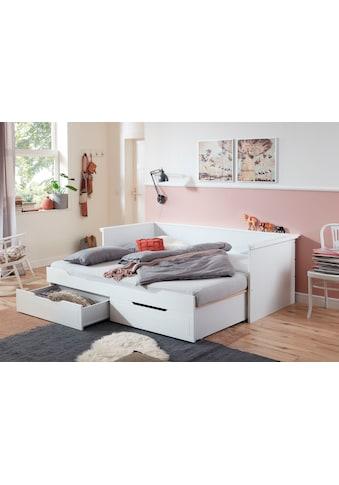 Relita Funktionsbett »Lina«, mit ausziehbarer Liegefläche und 2 Schubkästen, wahlweise mit Matratze kaufen