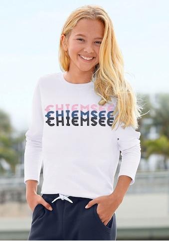 Chiemsee Langarmshirt, mit dreifarbigem Logodruck kaufen