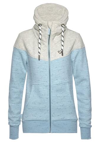 Alife & Kickin Sweatjacke »ValinaAK«, sportive Jacke mit hohem extradicken Stehkragen& dicken Kordeln kaufen