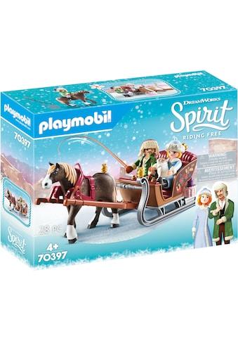 """Playmobil® Konstruktions - Spielset """"Winterliche Schlittenfahrt (70397), Spirit Riding Free"""", Kunststoff kaufen"""