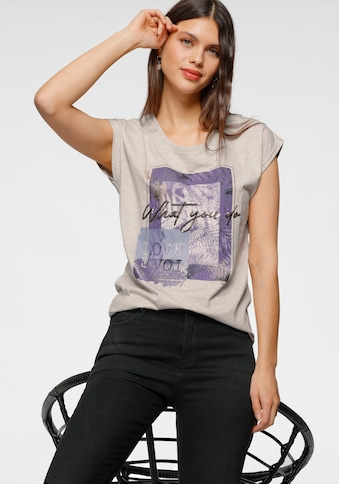 HaILY'S T-Shirt, mit Glitzerdruck und Pailletten kaufen