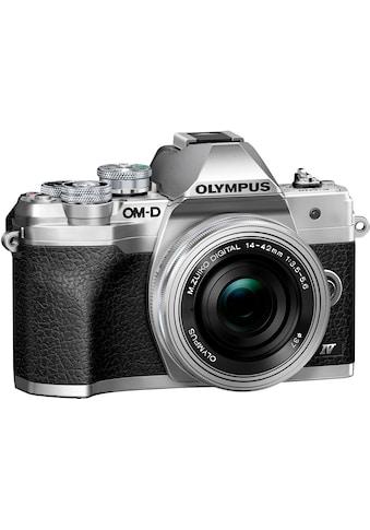 Olympus »E - M10 Mark IV« Systemkamera (M.Zuiko Digital ED 14‑42mm F3,5 - 5,6 EZ Pancake, 20,3 MP, Bluetooth WLAN (WiFi)) kaufen