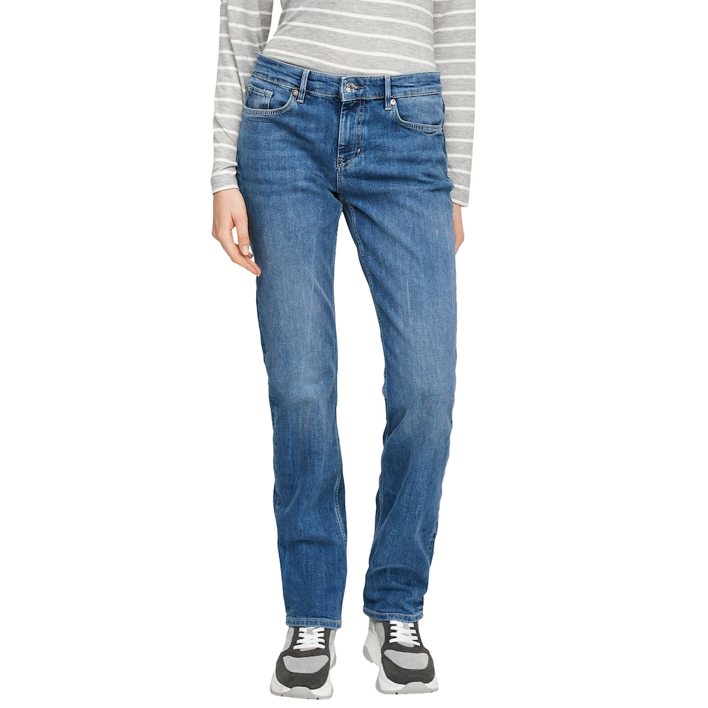 s.Oliver Regular-fit-Jeans »Karolin«, straight leg, mid rise
