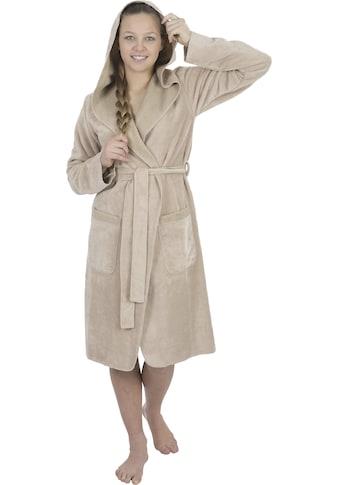 Wewo fashion Damenbademantel »6124«, mit Overlooknaht kaufen