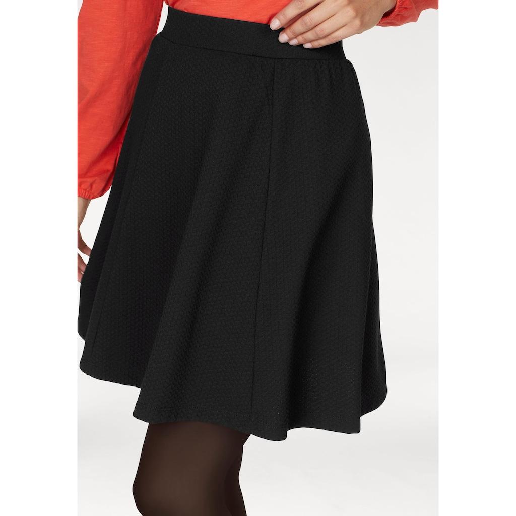 Aniston SELECTED Jerseyrock, mit Struktur
