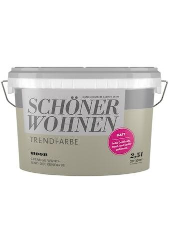 SCHÖNER WOHNEN-Kollektion Wand- und Deckenfarbe »Trendfarbe Moon, matt«, 2,5 l kaufen