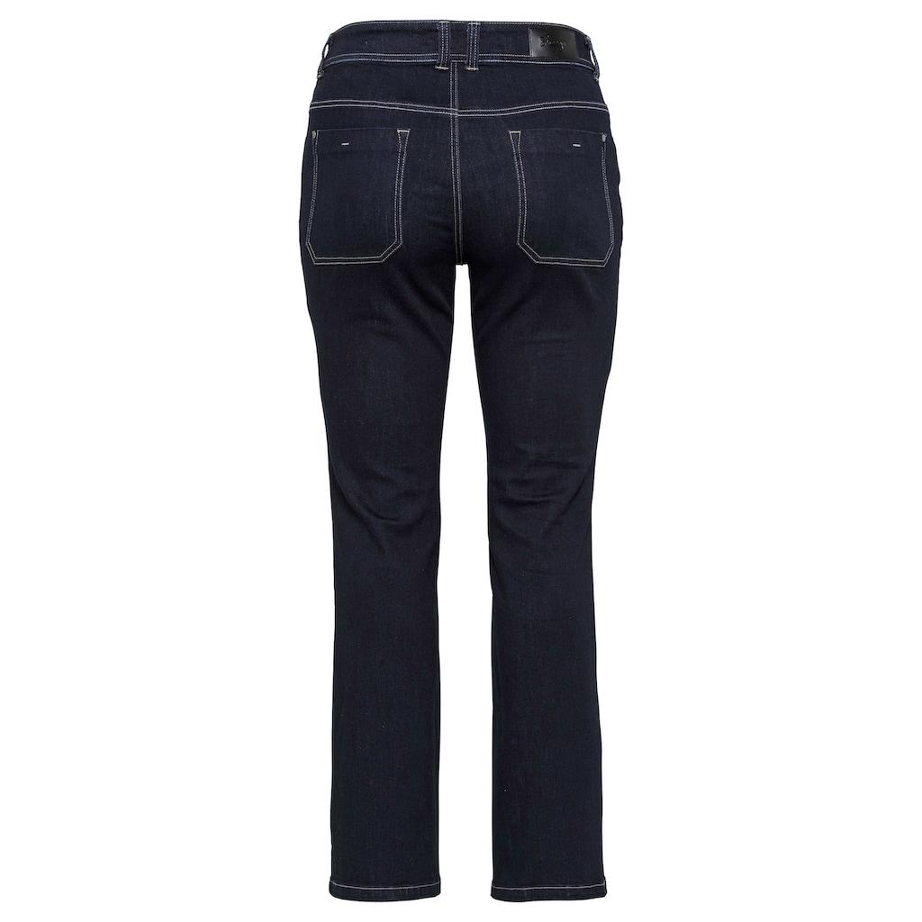 Sheego Bootcut-Jeans, mit Kontrastnähten
