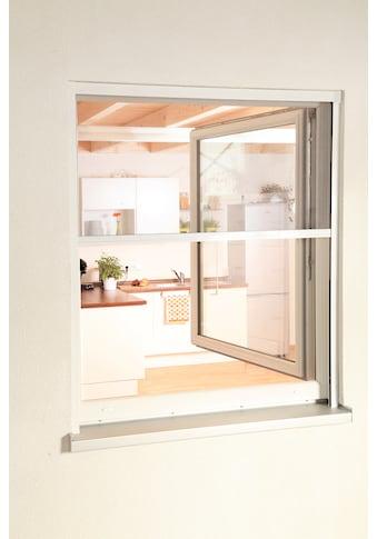 hecht international Insektenschutz-Rollo »SMART«, für Fenster, weiß/anthrazit, BxH: 130x160 cm kaufen