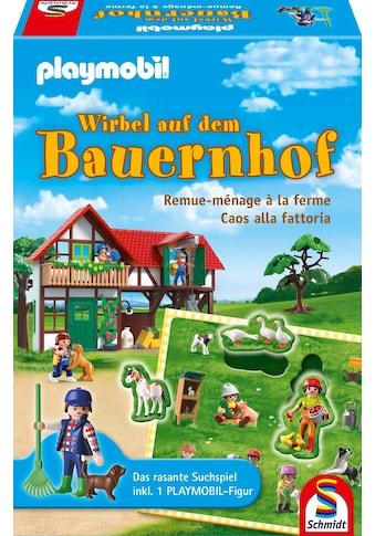 Schmidt Spiele Spiel »Playmobil, Wirbel auf dem Bauernhof«, Made in Germany kaufen