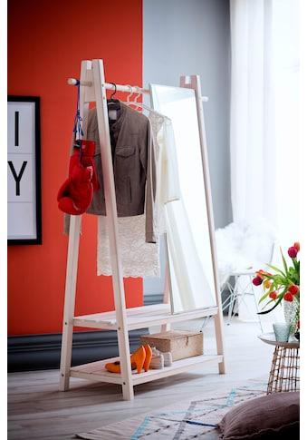 Home affaire Garderobenständer »Ward«, aus schönem weiß lackierten Fichtenholz, Höhe 170 cm kaufen