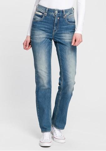 Herrlicher High-waist-Jeans »TOUCH HI STRAIGHT«, High Waisted mit softem Kaschmir-Touch Griff kaufen