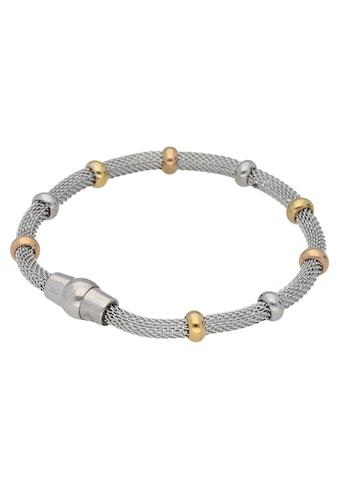 Firetti Armband »Schlauchkettengliederung, 4,3 mm breit, glänzend, Tricolor-Optik« kaufen