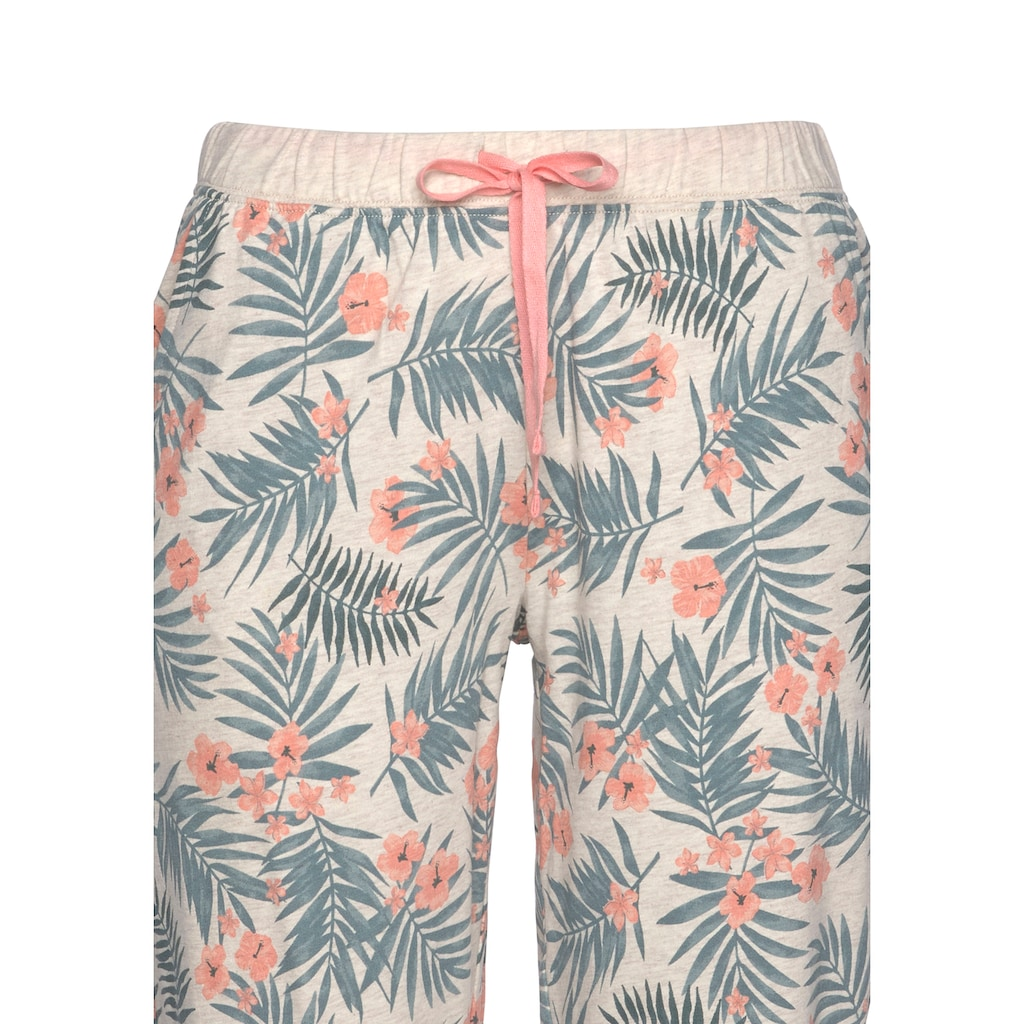 LASCANA Pyjama, mit gemusterter Hose