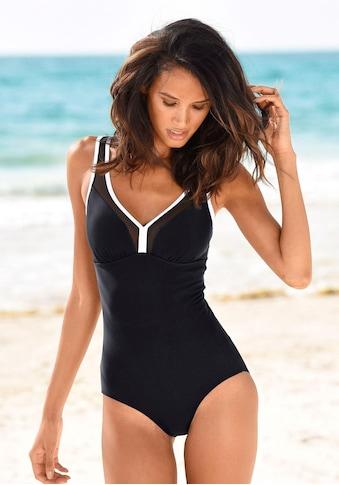 LASCANA Badeanzug, mit Mesh-Einsatz und Shaping-Effekt kaufen