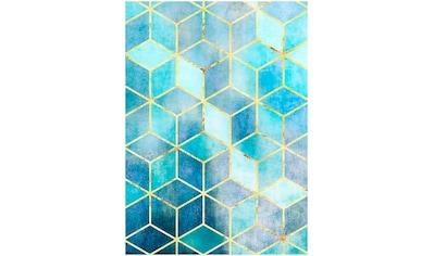 Komar Poster »Mosaik Azzuro«, Abstrakt, Höhe: 40cm kaufen