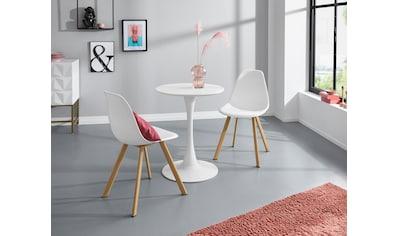 INOSIGN Esstisch »Feronia«, mit einer runden Tischplatte aus Holzwerkstoff und einem... kaufen