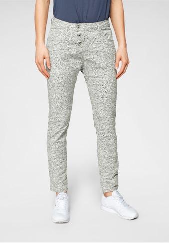 Please Jeans Boyfriend-Hose »P78A«, im Black and White Allover-Druck kaufen