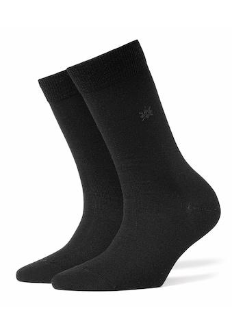 Burlington Socken »Bloomsbury«, (1 Paar), Baumwolle/Merinowolle-Mix kaufen