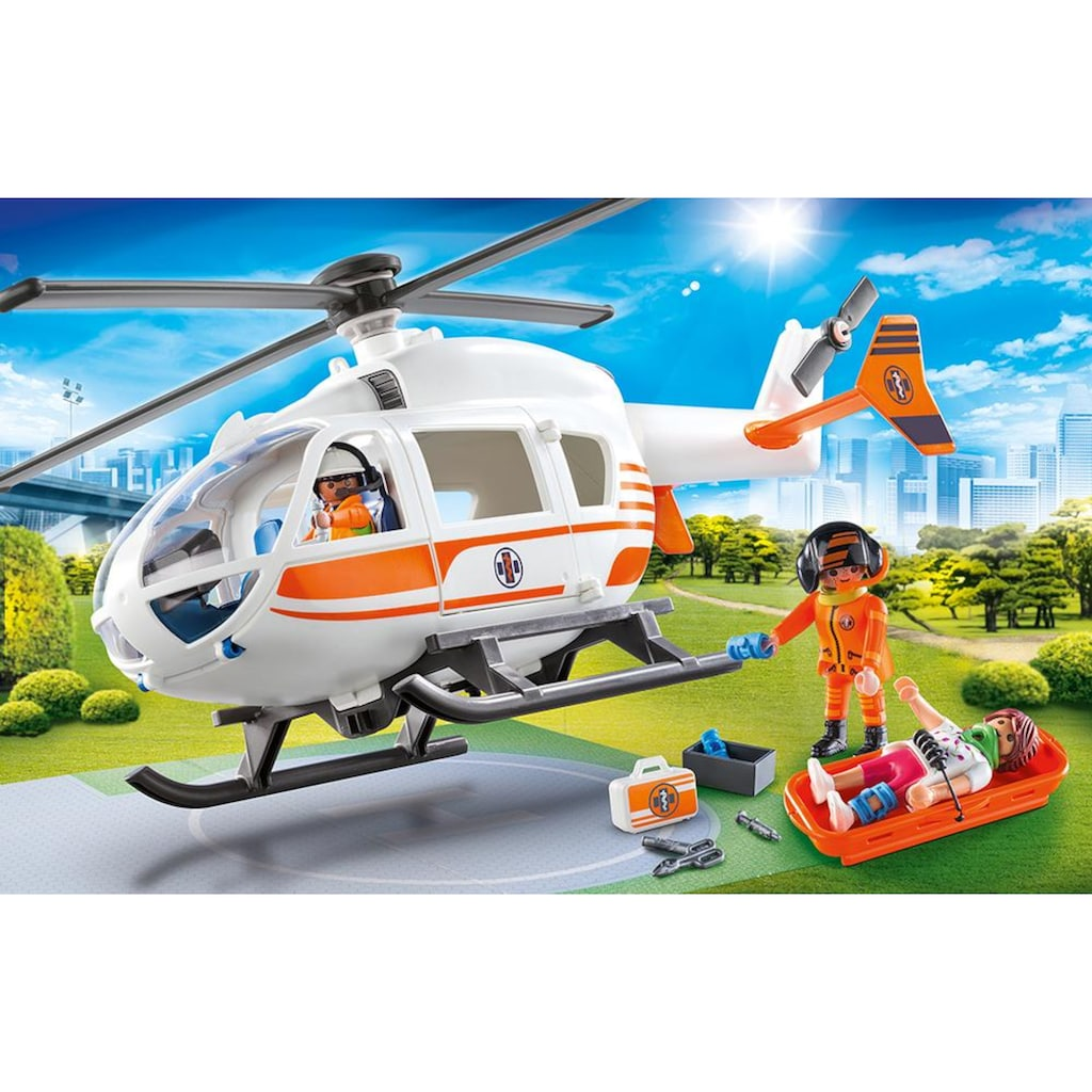 Playmobil® Konstruktions-Spielset »Rettungshelikopter (70048), City Life«, (38 St.), Made in Germany