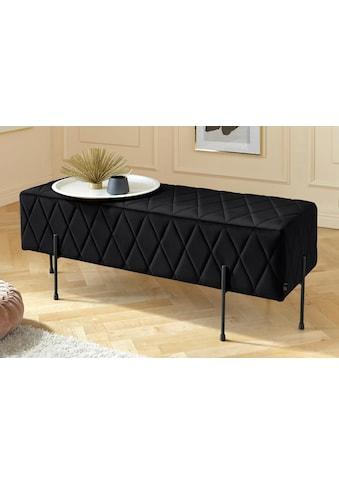 Leonique Sitzbank »Cavalino«, mit Velvetbezug und mit schwarzen Metallbeinen, auch als... kaufen
