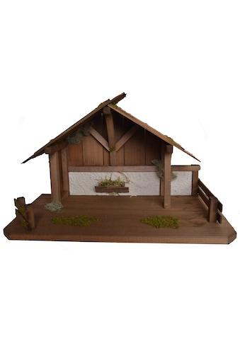 Alfred Kolbe Krippe »Krippenstall für 15 cm Figuren«, (1 tlg.), Echtholz kaufen