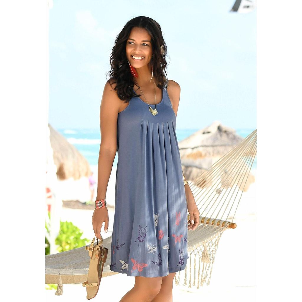 Beachtime Strandkleid, mit Schmetterlingsdruck