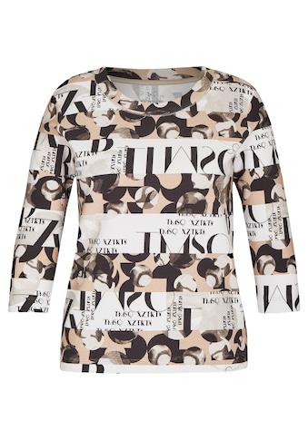 Rabe Rundhalsshirt, mit Muster-Mix und Lettering kaufen