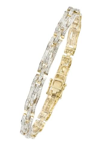 Firetti Armband »in Fantasiekettengliederung, rhodinierte Fassung, ca. 6,2 mm breit« kaufen