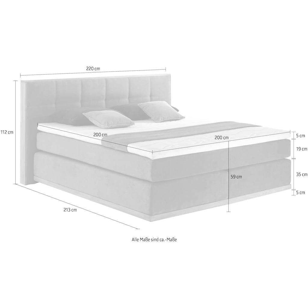 Places of Style Boxspringbett »Vinton«, (5 St.), aus massiver Eiche, verschiedene Härtegrade (auch H4)