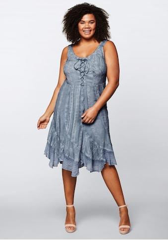 sheego by Joe Browns Trägerkleid, in Oil-washed-Optik mit vielen Details kaufen