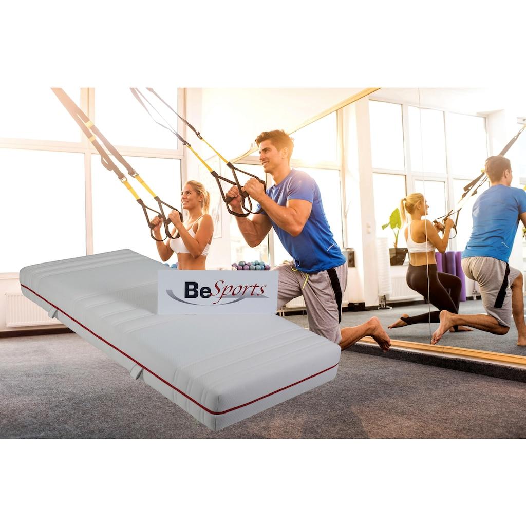 BeSports Komfortschaummatratze »HS Plus 2200«, (1 St.), Top für Rücken, Muskulatur und ihre Fitness