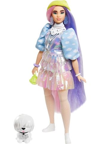 Mattel® Anziehpuppe »Barbie EXTRA«, mit langen Pastell-Haaren und Hündchen kaufen