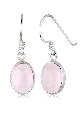 Elli Paar Ohrhänger »Rosenquarz Basic Elegant Oval 925 Silber« kaufen