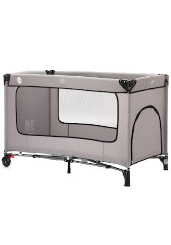 Fillikid Baby-Reisebett »Reisebett mit Komfortmatratze, hellgrau melange«, inkl. Transporttasche kaufen