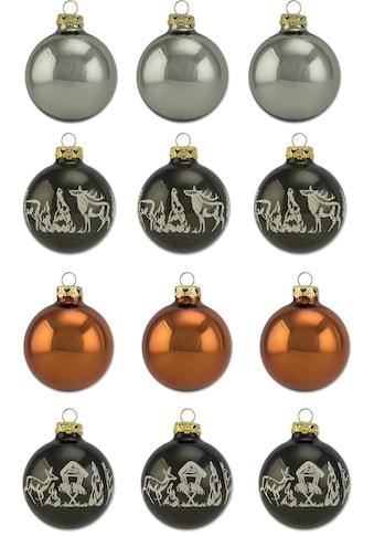 Thüringer Glasdesign Weihnachtsbaumkugel »Adventure«, (Set, 12 St.), mit Motivkugeln,... kaufen