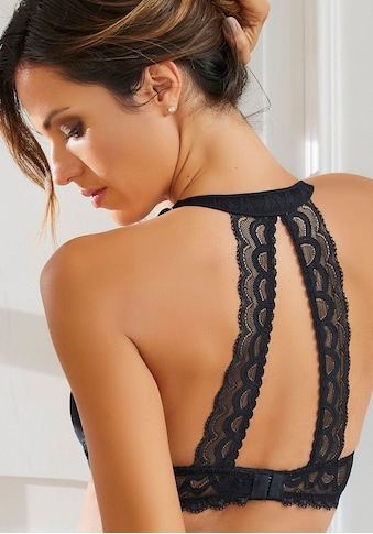 LASCANA Neckholder-BH, mit dekorativem Spitzenrücken und Komfort-Nackenträger kaufen