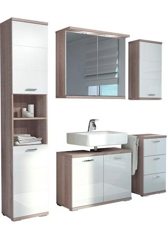 Homexperts Badmöbel-Set »Nusa«, (5 St.), aus Spiegelschrank inkl. LED-Beleuchtung,... kaufen